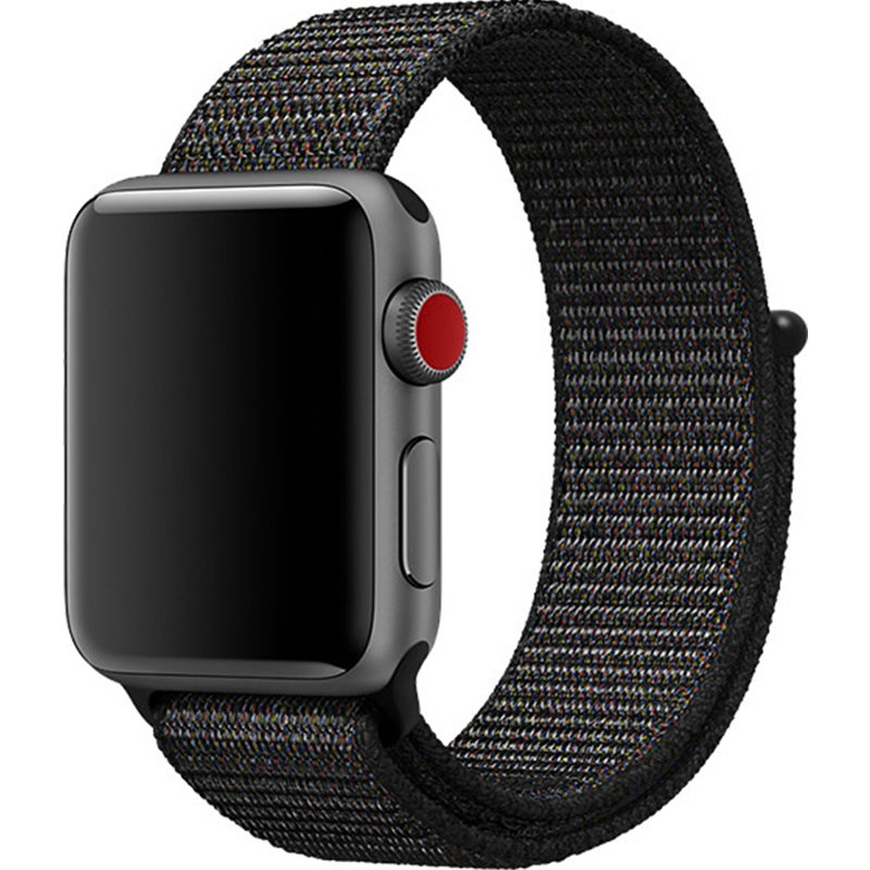 Replacement Sport Nylon Woven Band for Apple Watch Series 4 40mm/44mm black_44mm
