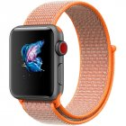 Replacement Sport Nylon Woven Band for Apple Watch Series 4 40mm 44mm Orange red 44mm