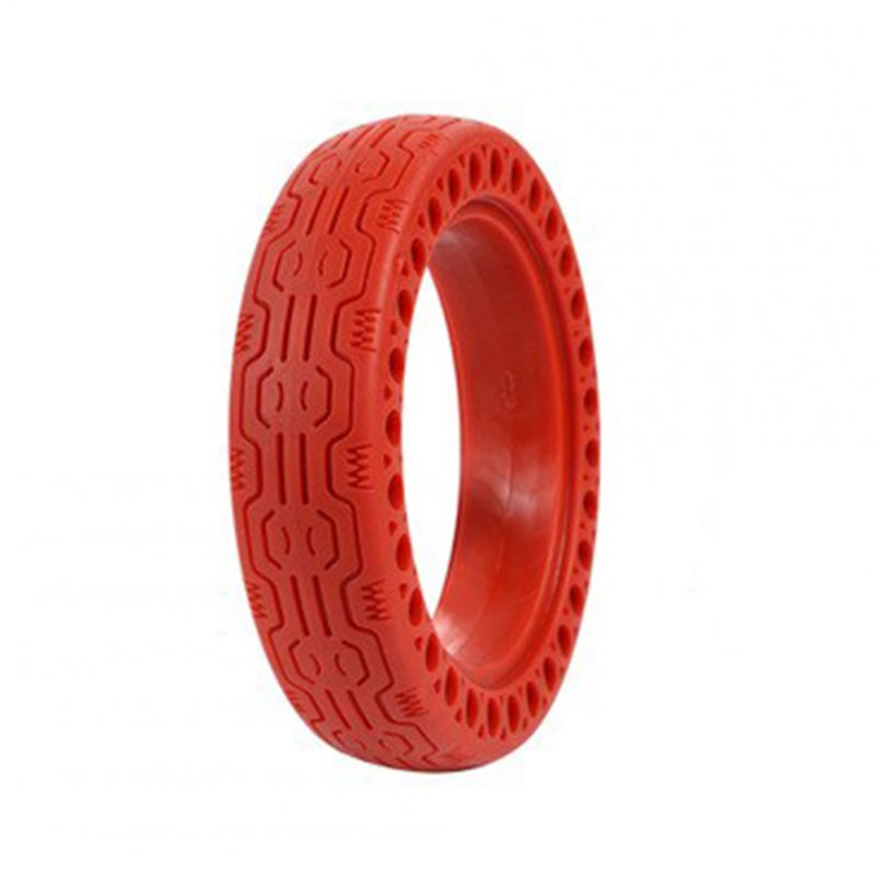Replacement Tire for Xiaomi M365 Electric Scooter Accessories 8.5 Inch Inflation-free Solid Tire Single red