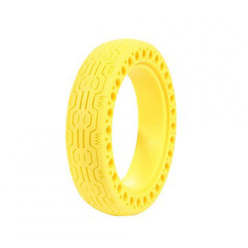 Replacement Tire for Xiaomi M365 Electric Scooter Accessories 8.5 Inch Inflation-free Solid Tire Single yellow