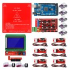 Reprap Ramps 1.4 Kit with Mega 2560 r3 + Heatbed MK2B + 12864 LCD Controller + DRV8825 +Mechanical Switch +Cables for 3D Printer 1 set