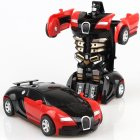 Rescue Bots Deformation Transformer Car One-Step Car Robot Vehicle Model Action Figures Toy Transform Car for Kids red