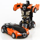 Rescue Bots Deformation Transformer Car One Step Car Robot Vehicle Model Action Figures Toy Transform Car for Kids orange