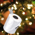 Resin Diy Hanging Pendant Merry  Christmas Tree  Decoration White  Paper  Roll Pendant White