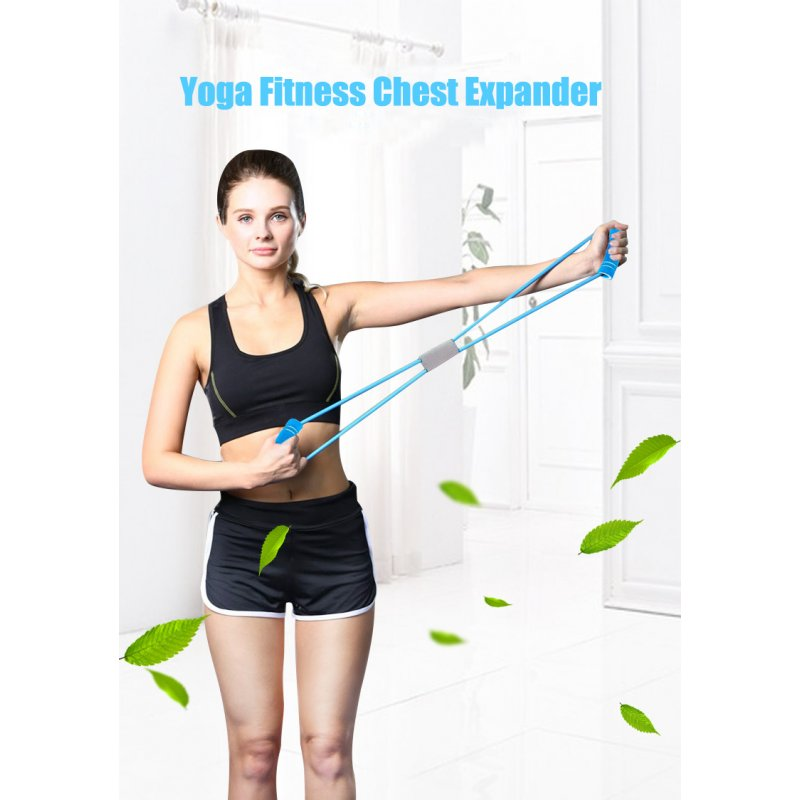 Resistance Bands Yoga Fitness Resistance 8 Word Chest Expander Rope Workout Muscle Fitness Rubber Elastic Bands for Exercise green_Upgrade