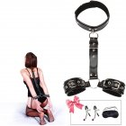 Restraints Sex Kit Neck to Wrist Cuffs Y Restraint Collar Handcuffs Bondage Set Adjustable for Couples Adults BDSM Play Sex Games   3 piece set