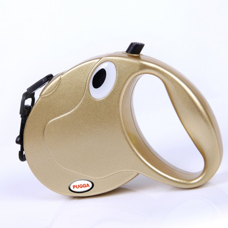 Retractable Dog Leash for Small Medium Large Pet Outdoor Walk gold_M-5M Sling is suitable for less than 50 kg (303g)