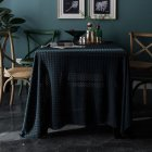 Retro Jacquard Lace Tablecloth Home Table Cover For Home Party Holiday Resturant Navy_150*220cm