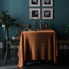 Retro Jacquard Lace Tablecloth Home Table Cover For Home Party Holiday Resturant Orange_150*220cm