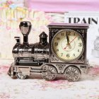 Retro  Locomotive Alarm  Clock Fashion Model Alarm  Clock Home  Gifts Ebony