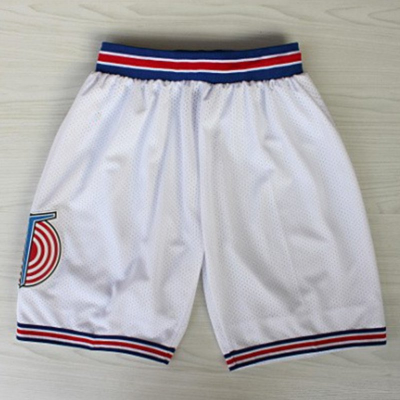 Retro Mesh Cool Shorts  Casual Sports Basketball Squad Shorts Fashion Short Pants white_L
