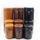 Retro PU Leather Lens Pouch Bag Protective Case for Universal DSLR Camera black_Medium