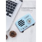 Retro Portable Mini Bluetooth Speaker Wireless Speakers Super Bass Music Loudspeakers Support TF Card FM Radio blue