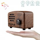 Retro Portable Mini Bluetooth Speaker Wireless Speakers Super Bass Music Loudspeakers Support TF Card FM Radio Wood grain