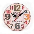 Retro Wooden Round Wall Clock for Bedroom Study Office Christmas Birthday Gift  Paris