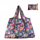 Reusable Foldable Shopping Bags Large Size Tote Bag with Handle Morning glory 075_XL