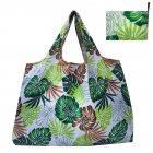 Reusable Foldable Shopping Bags Large Size Tote Bag with Handle Leaves 099 XL