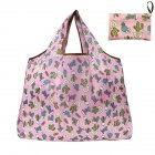 Reusable Foldable Shopping Bags Large Size Tote Bag with Handle Cactus 113_XL