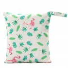 Reusable Printed Pocket Diaper Bag for Travel Sundries Toiletries Cosmetics Maple flamingo