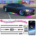 Rgb Dreamcolor Led Car Underglow Lights Music Bluetooth App Remote Control Strip 7 colors change
