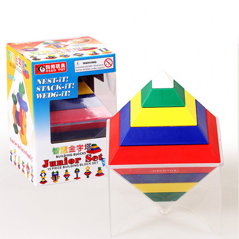 Rhombus Variety Changeable Pyramid Building Blocks Tower Toy Creative Enlightenment Toys for Children Hardcover