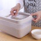 Rice Storage Box Sealed Moisture-proof Large Capacity Grain Flour Container with Flip Cover