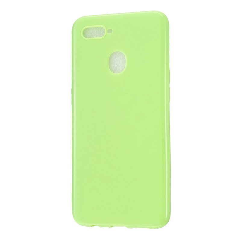 For OPPO A7/F9/F9 Pro Cellphone Cover Non-Slip Ultra Thin Silm Fit Easy Install Soft TPU Smartphone Shell Fluorescent green