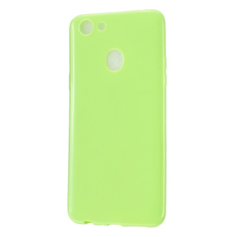 For OPPO F5/F7 Cellphone Cover Soft TPU Mobile Phone Case Screen Protector with Shock Absorption Technology Fluorescent green