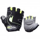 Riding Gloves Silicone Half-finger Gloves Moisture and Breathable Gloves dark green_XL