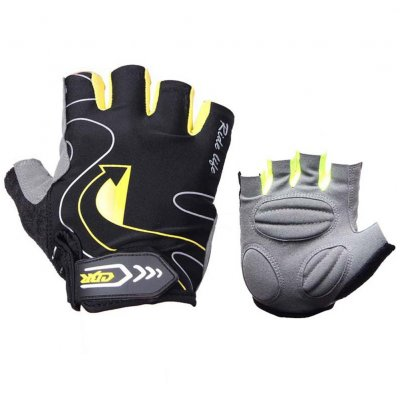 Riding Gloves Silicone Half-finger Gloves Moisture and Breathable Gloves Black yellow_XL