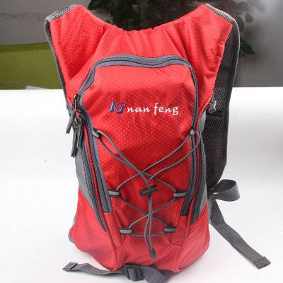 Riding Water Bag Backpack Bicycle 5L Sports Outdoor Riding Bag Cilmbing Travel Shoulders Bag Single backpack red