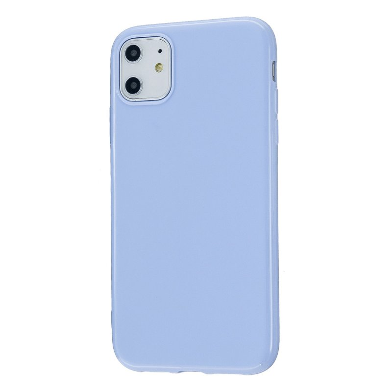 For iPhone 11/11 Pro/11 Pro Max Smartphone Cover Slim Fit Glossy TPU Phone Case Full Body Protection Shell Taro purple