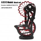 Road Bike Carbon Fiber Rear Pulley Guide Wheel 5800 7000 8000 9000 Bicycle Accessories 6800 guide wheels black red