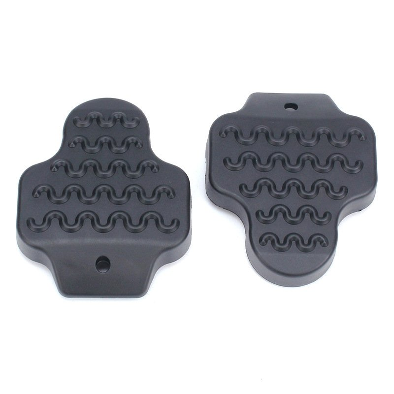 Road Cycling Parts Bicycle Pedal MTB Bike Road 1Pair Rubber Cleat Cover Cleats Covers Lock Protective Sleeve Bike Accessories black