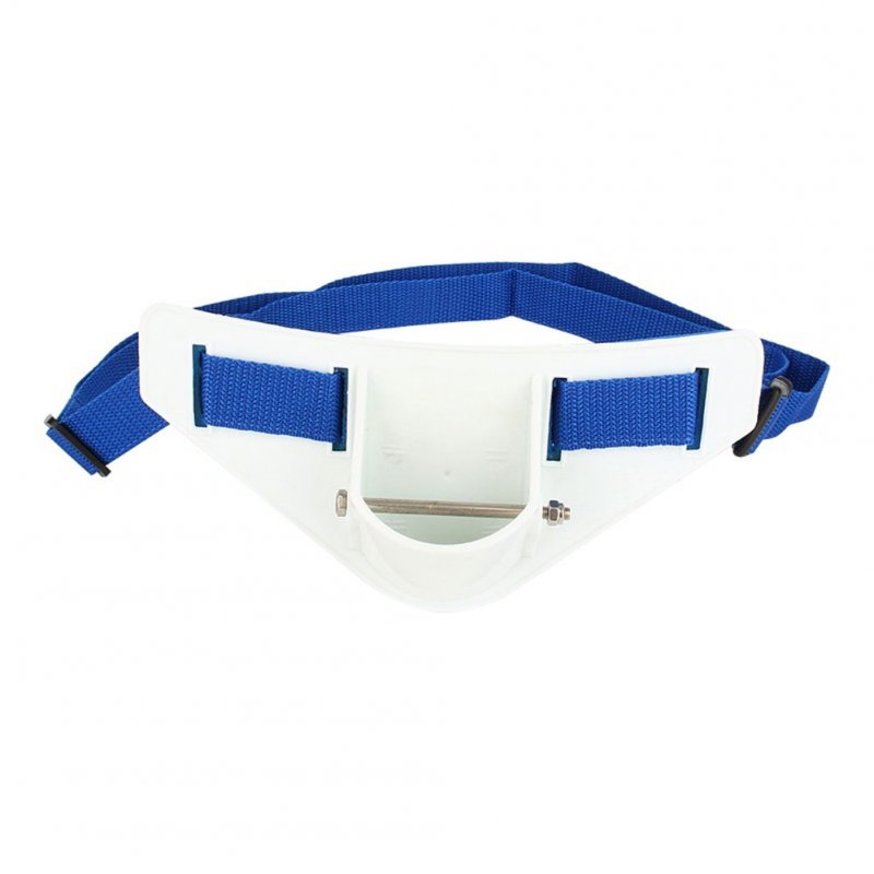 Rock Fishing Belt Boat Fishing Belly Waist Belt Light Fishing Rod Stand Holder Sea Fishing blue