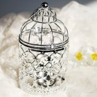 Romantic Birdcage Candlestick Metal Wedding Candle Centerpieces Tables Iron Candle Holder A   silver 8 8 14cm