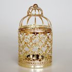 Romantic Birdcage Candlestick Metal Wedding Candle Centerpieces Tables Iron Candle Holder A   gold 8 8 14cm