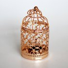 Romantic Birdcage Candlestick Metal Wedding Candle Centerpieces Tables Iron Candle Holder A # rose gold_8*8*14cm