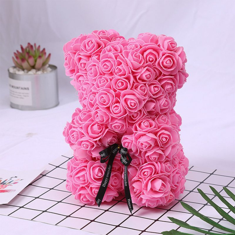 Romantice Rose Bear Toy with Box  for Valentine's Day Wedding Party Gift