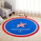 Round Carpet 3D Anti-slip Rugs Computer Chair Floor Mat for Home Kids Room Star_80cm