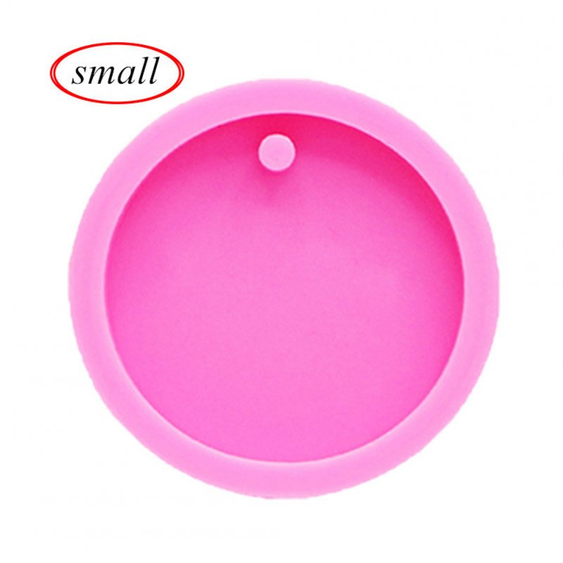 Round Circle Mold with Hole Disk Keychains Silicone Mould for Key Chain Pendant small circle