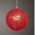 Round Concise Hand woven Rattan Vine Ball Pendant Lampshade Light Lamp Shades Light Accessories 15cm Diameter  Red   accessories  lamp holder  wire