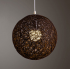 Round Concise Hand woven Rattan Vine Ball Pendant Lampshade Light Lamp Shades Light Accessories 15cm Diameter  Red
