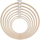 Round Embroidery  Hoops Bamboo Circle Cross Stitch Hoop Rings For Diy Art Craft Handy Sewing 16cm