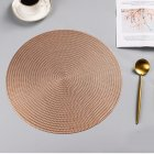 Round Heat Insulation Placemat for Hotel Restaurant Steak Plate Rose gold