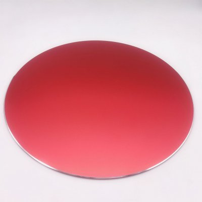 Round Mouse Mat Aluminum Anti Slip Rubber Bottom Gaming Mouse Pad Computer Accessory red_20CM