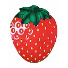 Round Shape Chiffon Beach Towel for Outdoor Camping Mat Strawberry_Chiffon (80g)