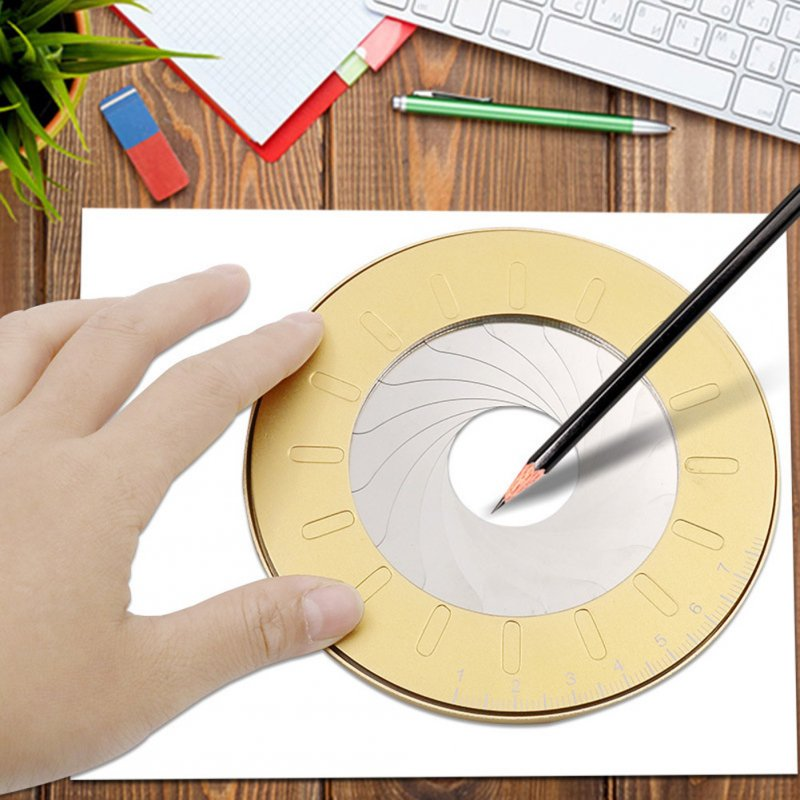 Round Stainless Steel Compas Circle Drawing Tool School Ruler Set Geometry Compass Professional Drawing Compa Without silk screen