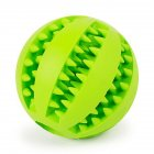 Rubber Ball Chew Pet Dog Puppy Teething Dental Healthy Treat Clean Toy large_Green