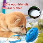 Rubber Dog Chew  Ball For  Pet  Tooth  Cleaning  Interactive  Dog  Treat  Toys Light blue_opp bag
